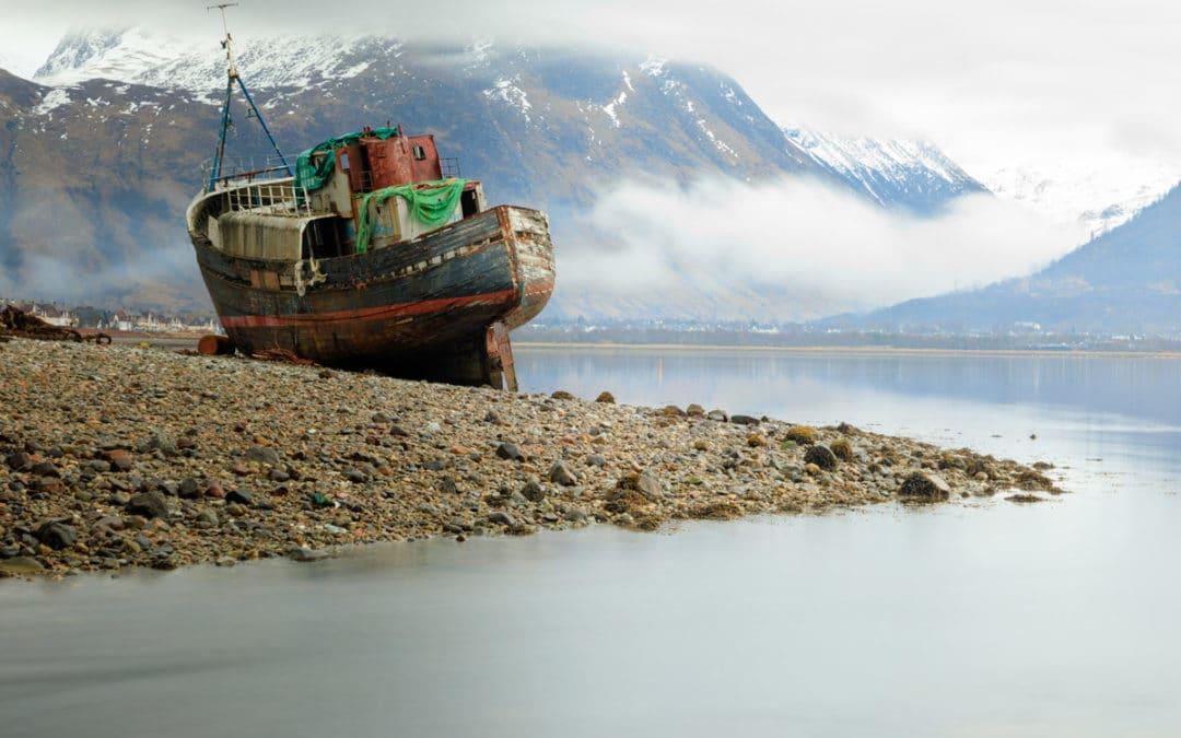 Old boat of Corpach, Ben Navis